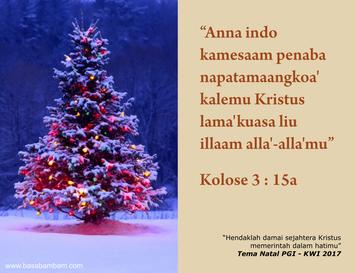 ucapan selamat natal basa bambam 2017 (facebook)